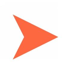 Arrow icon direction button pointer sign flat vector