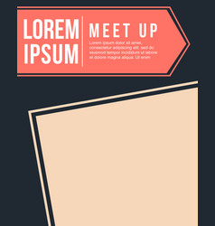 cool colorful background meet up card style vector image