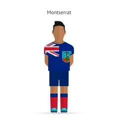 Montserrat football player Soccer uniform vector image vector image