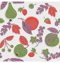 vintage screenprint nature vector image