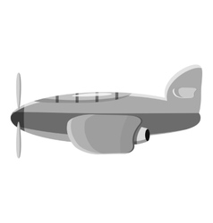 Airplane transport icon gray monochrome style vector image vector image