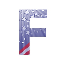 american letter F vector image vector image
