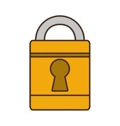 cartoon padlock lock security money bank vector image