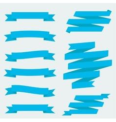 Flat ribbons vector image
