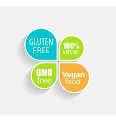 Gmo Free 100 Natutal Vegan Food and Gluten Free vector image