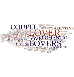 Lover word cloud concept vector