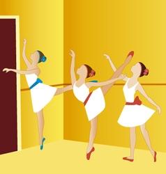 ballerinas dancing 2 vector image