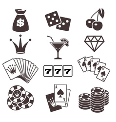 Gambling poker card game casino luck vector image