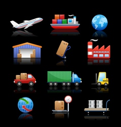 Industry Logistics icons vector image