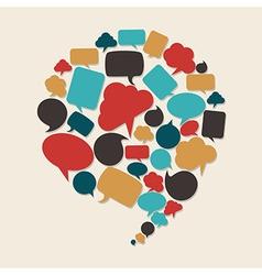 Social marketing campaign vector image vector image