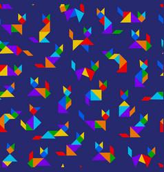 tangram cats vector image