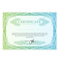 Template that is used in certificate currency and vector image vector image