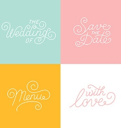 Wedding hand-lettering vector image vector image