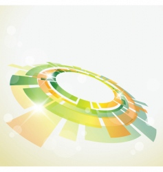 abstract background with 3d object vector image vector image