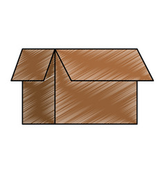 carton box isolated icon vector image
