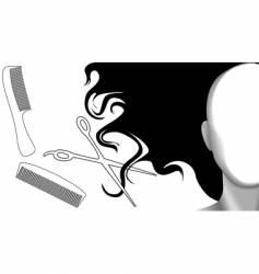 clip curls hair comb vector image