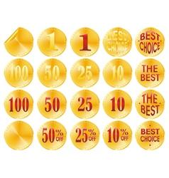 golden awards vector image vector image