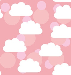 Seamless pattern sunset sunrise sky clouds Pink vector image vector image
