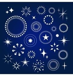 Starburst stars and sparkles burst icons set vector image vector image