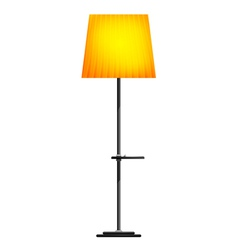 Yellow floor lamp on a white background vector image