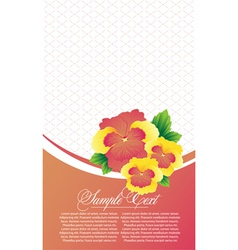 abstract card with flowers vector image