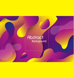 abstract fluid color background vector image