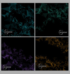 abstract futuristic backgrounds vector image