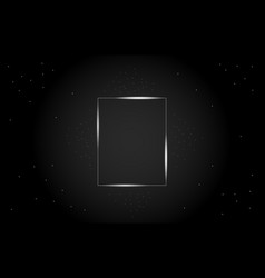 abstract geometric rectangle in the center frame vector image