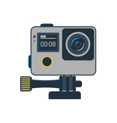 Action camera isolated icon vector