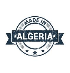 algeria stamp design vector image