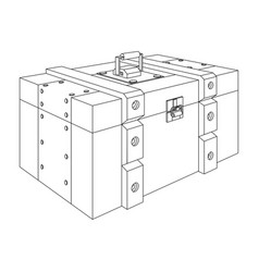 Army ammunition box military box outline drawing vector
