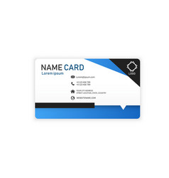 black blue business abstract name card imag vector image