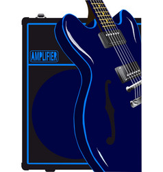 Blues guitar and amplifier vector