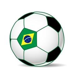 brazil soccer ball vector image
