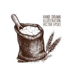 Bread sketch vector