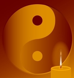Buddhist Candle vector