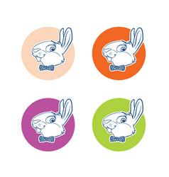 bunny-logo vector image
