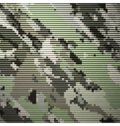Camouflage military halftone pattern background vector image