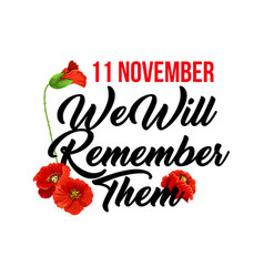 Card for remembrance day vector