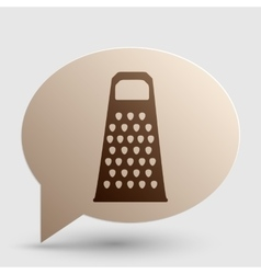 Cheese grater sign Brown gradient icon on bubble vector