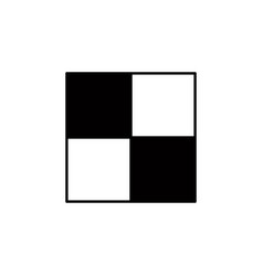 chess board icon element of chess for mobile vector image
