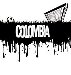 Colombia with a soccer ball and gate vector