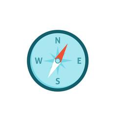 compas icon flat vector image