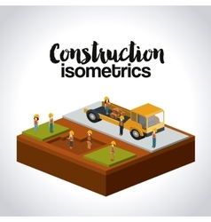 construction isometrics design vector image