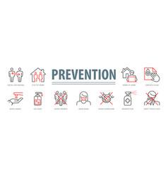 Coronavirus prevention set vector