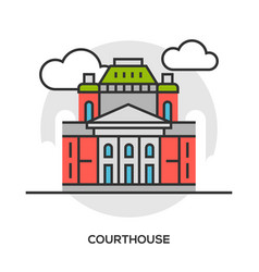 Court or tribunal courthouse entrance vector