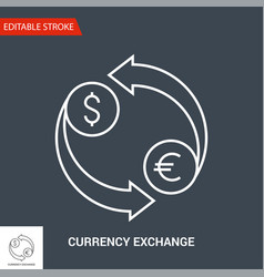 Currency exchange icon line vector