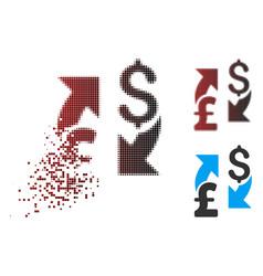 Dispersed pixel halftone dollar pound exchange vector