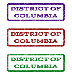 District of columbia watermark stamp vector
