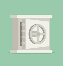 Eps10 flat concept safe icon vector